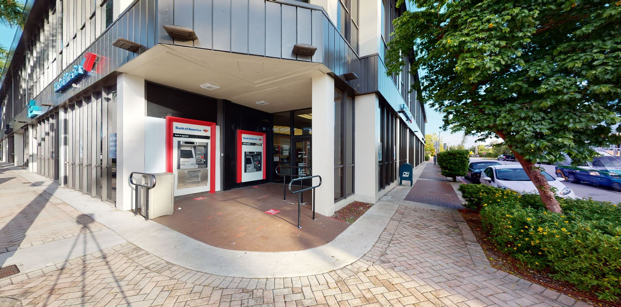 Bank of America financial center with walk-up ATM   360 W 41st St, Miami Beach, FL 33140