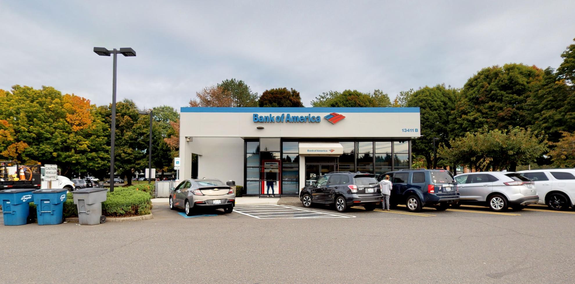Bank of America financial center with drive-thru ATM   13411 SE Mill Plain Blvd STE B, Vancouver, WA 98684