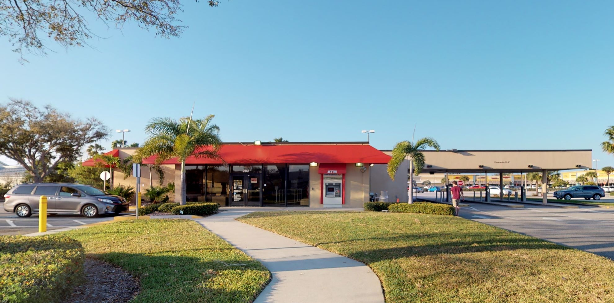 Bank of America financial center with drive-thru ATM and teller   202 E Eau Gallie Blvd, Indian Harbour Beach, FL 32937