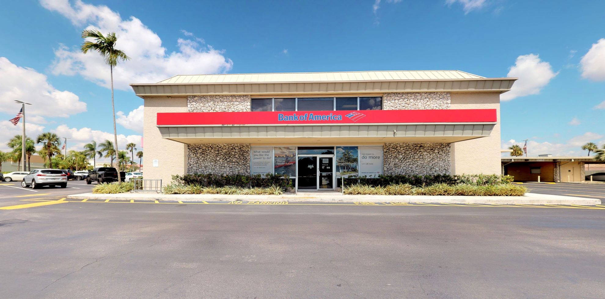 Bank of America financial center with drive-thru ATM   8585 Coral Way, Miami, FL 33155