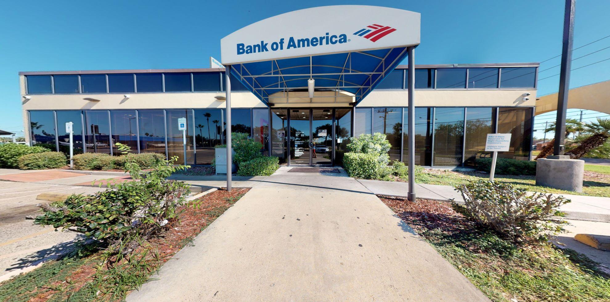 Bank of America financial center with drive-thru ATM | 5875 Weber Rd, Corpus Christi, TX 78413