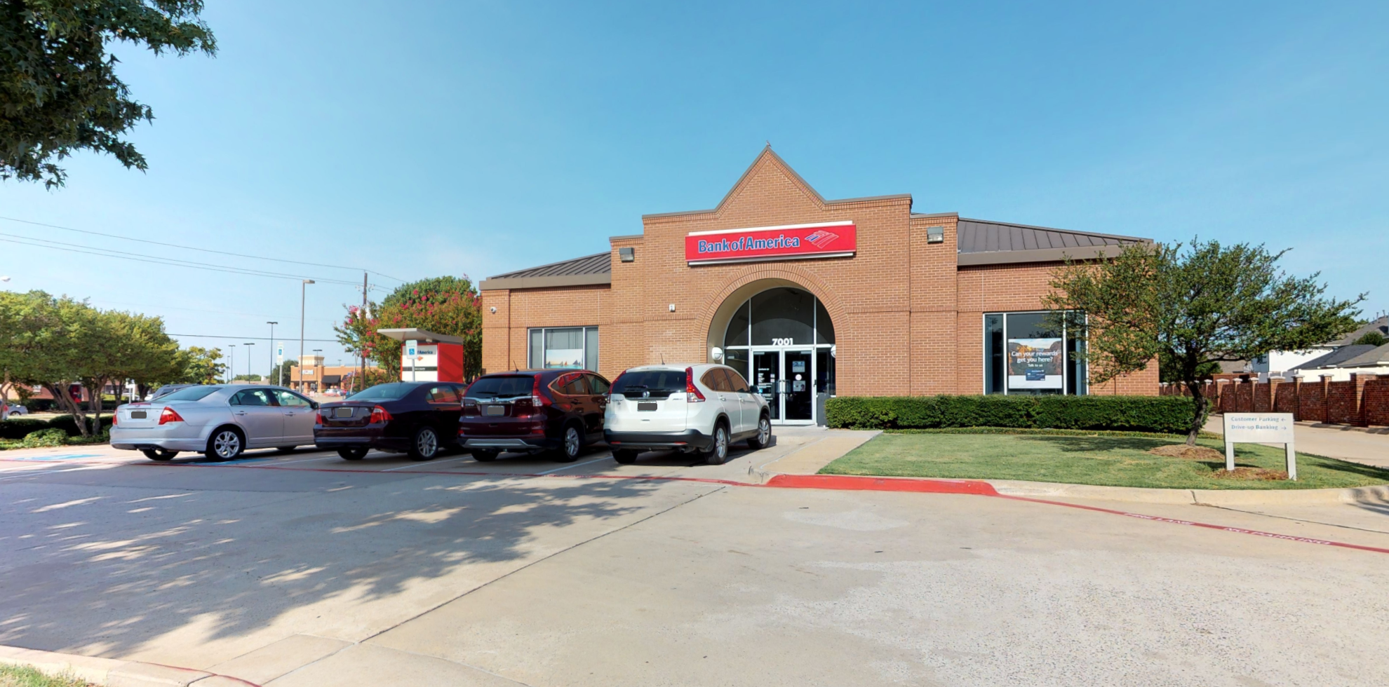 Bank of America financial center with drive-thru ATM | 7001 Independence Pkwy, Plano, TX 75025