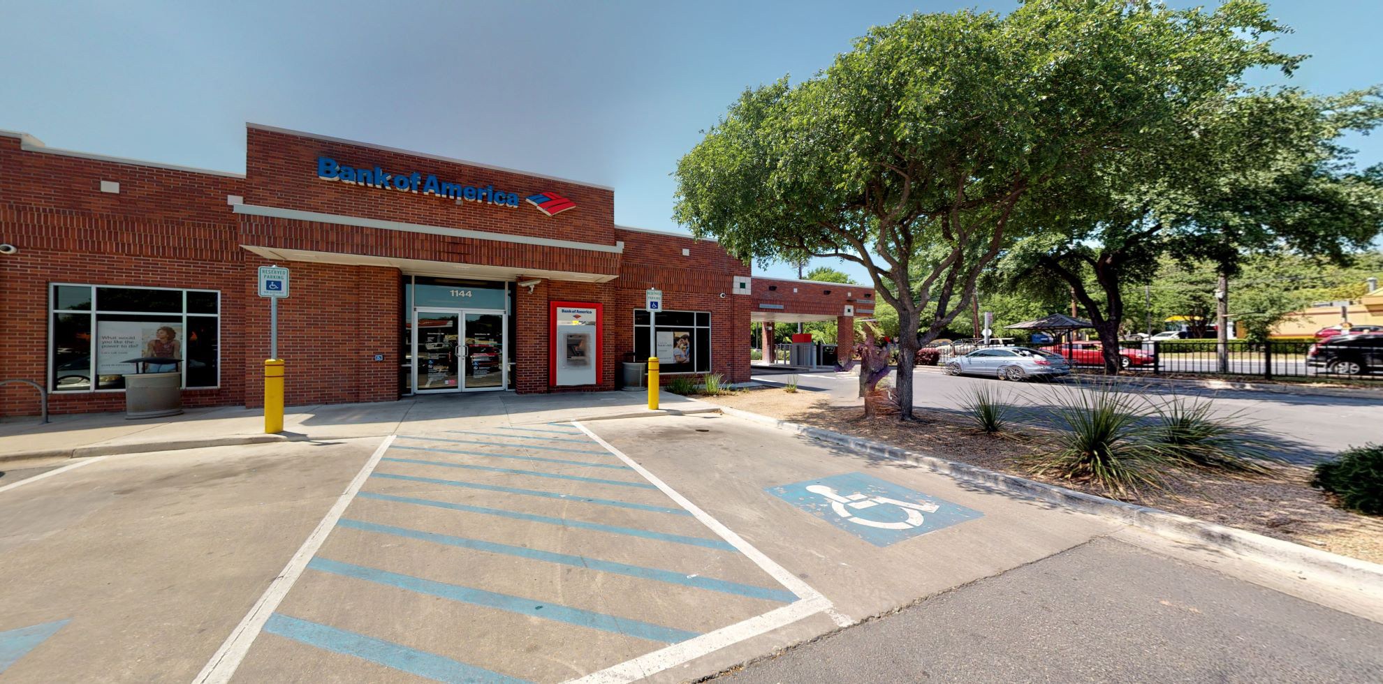 Bank of America financial center with drive-thru ATM and teller   1144 Airport Blvd STE 700, Austin, TX 78702
