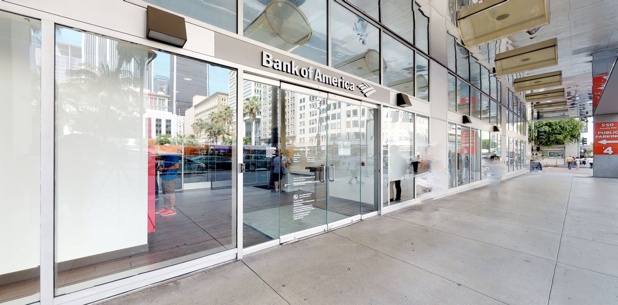 Bank of America financial center with walk-up ATM | 550 S Hill St, Los Angeles, CA 90013