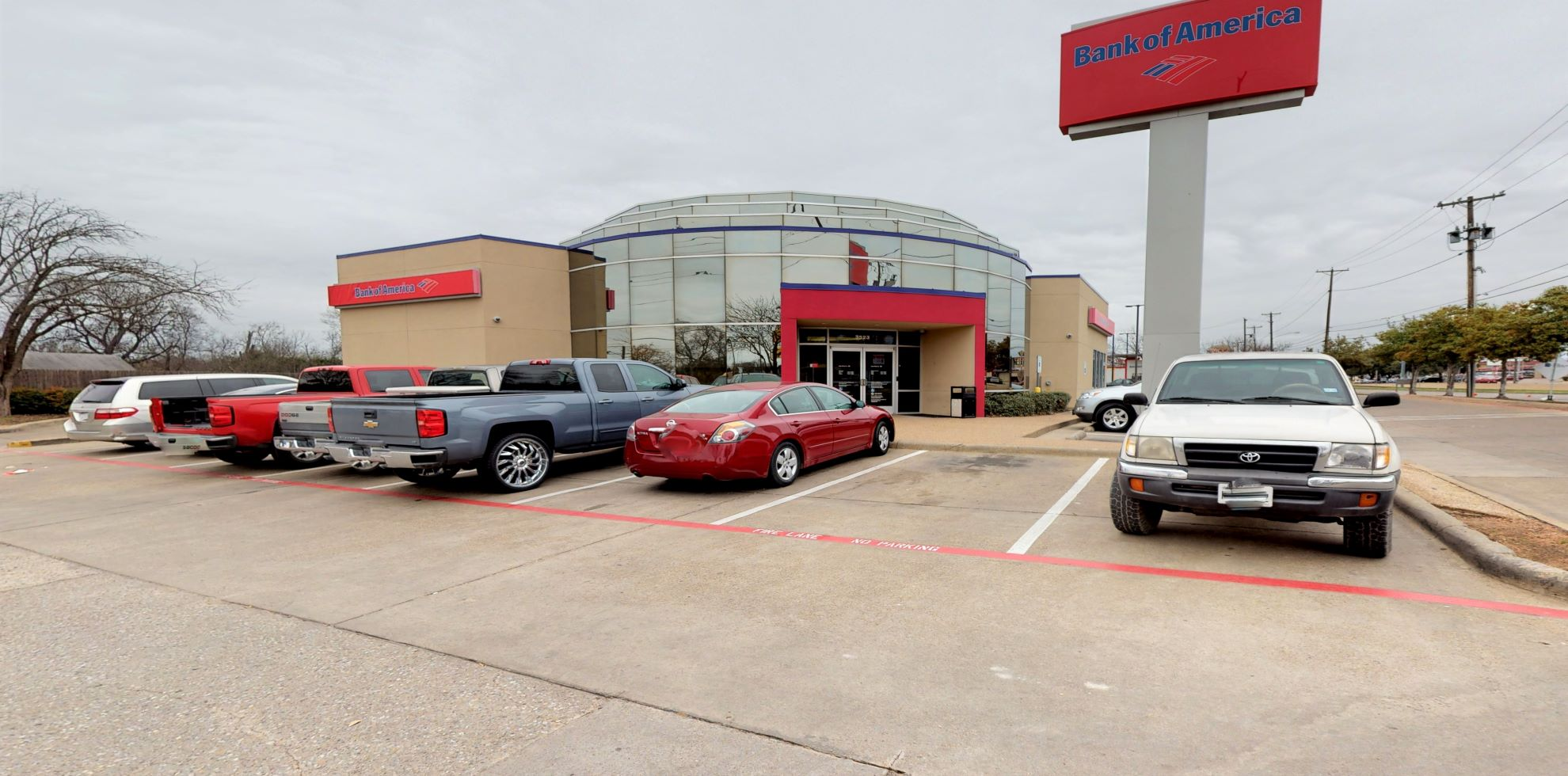 Bank of America financial center with drive-thru ATM   3523 S Lancaster Rd, Dallas, TX 75216