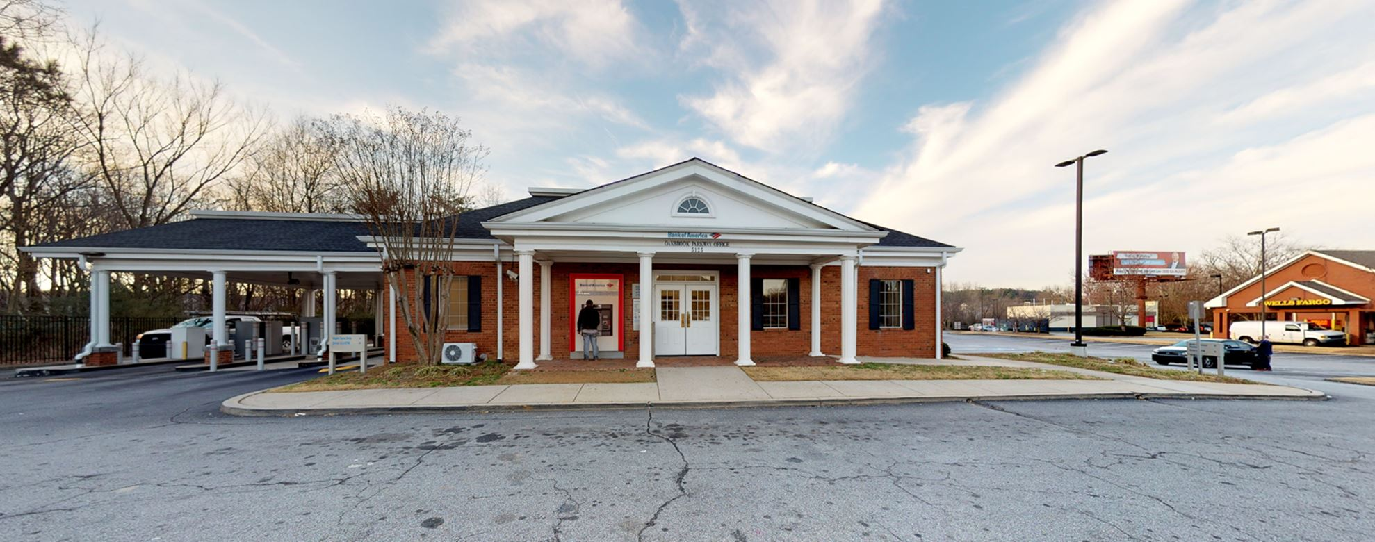 Bank of America financial center with drive-thru ATM | 5125 Oakbrook Pkwy, Norcross, GA 30093