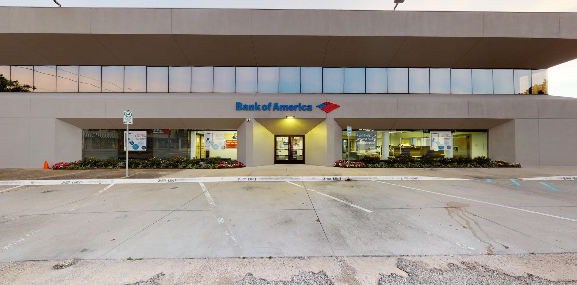 Bank of America financial center with drive-thru ATM   6019 Berkshire Ln, Dallas, TX 75225