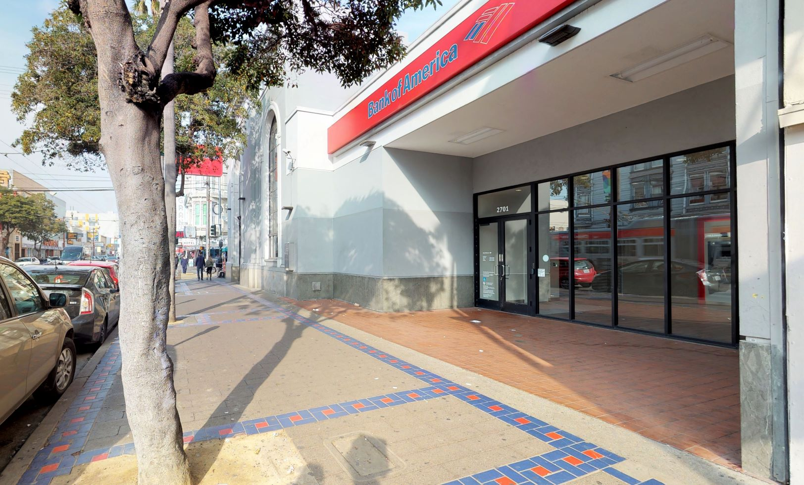 Bank of America financial center with walk-up ATM | 2701 Mission St, San Francisco, CA 94110