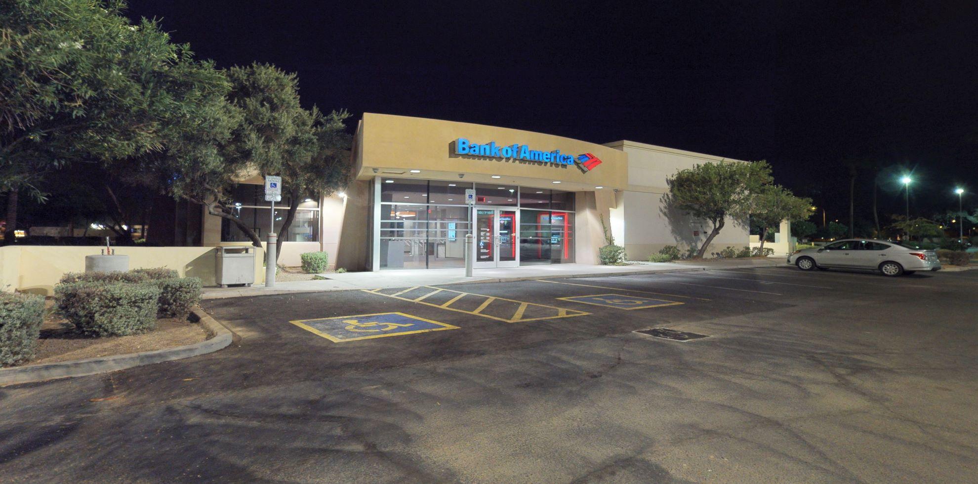 Bank of America financial center with drive-thru ATM   3075 S Alma School Rd, Chandler, AZ 85248