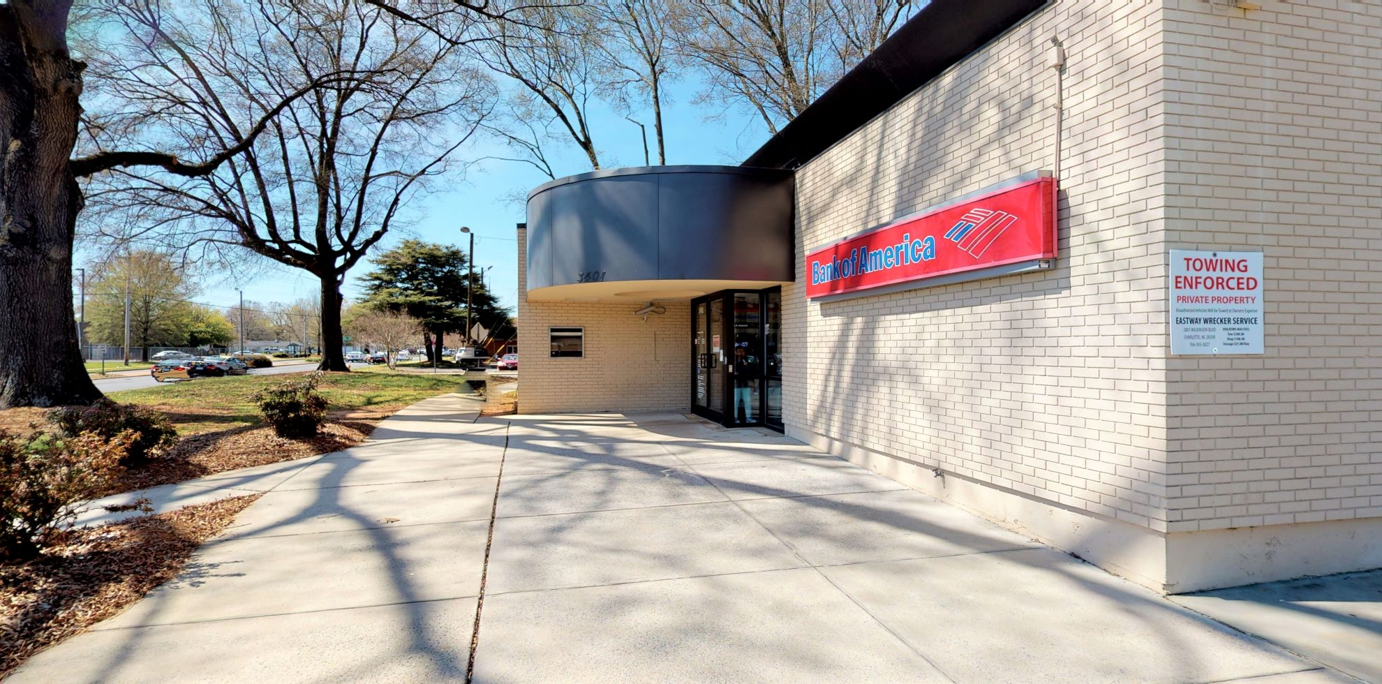 Bank of America financial center with drive-thru ATM | 3401 The Plaza, Charlotte, NC 28205
