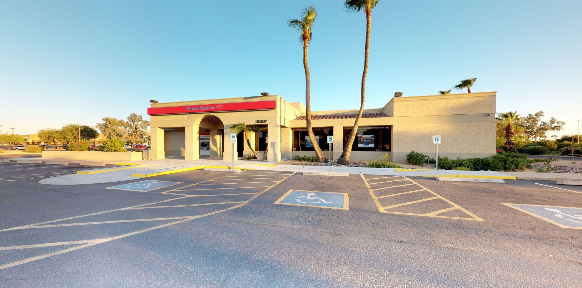 Bank of America financial center with drive-thru ATM | 5807 E McKellips Rd, Mesa, AZ 85215