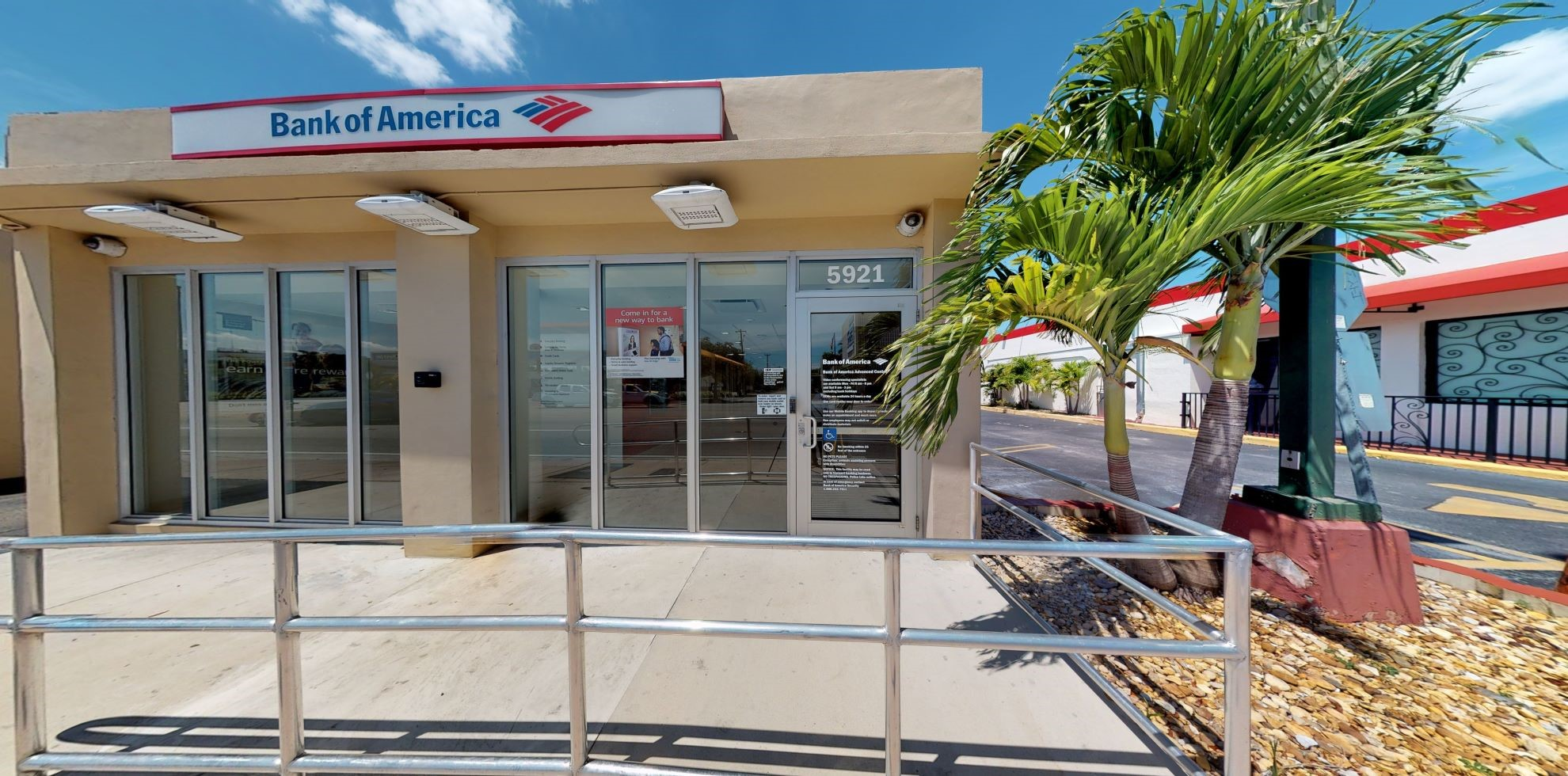 Bank of America Advanced Center with walk-up ATM   5921 SW 8th St, Miami, FL 33144