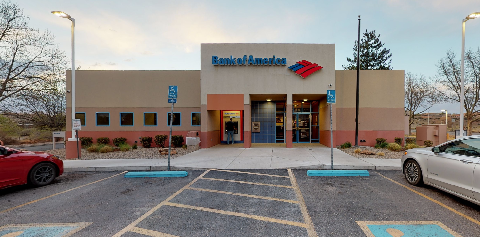 Bank of America financial center with drive-thru ATM and teller   6645 Caminito Coors NW, Albuquerque, NM 87120