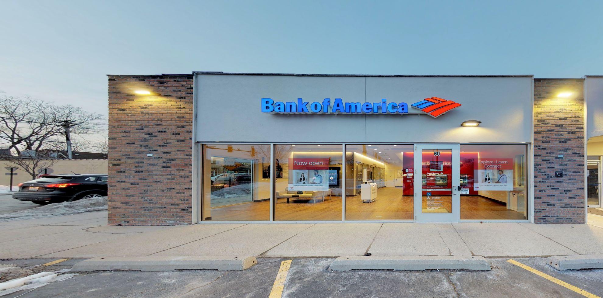 Bank of America Advanced Center with walk-up ATM   60 W Palatine Rd, Palatine, IL 60067