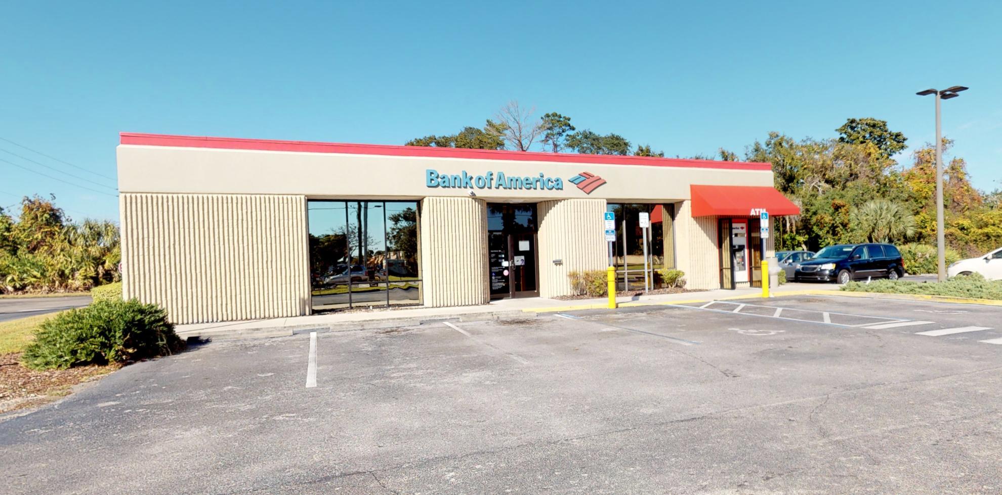 Bank of America financial center with drive-thru ATM   699 S Nova Rd, Ormond Beach, FL 32174