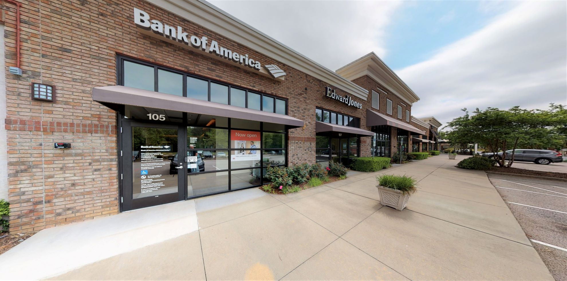 Bank of America Advanced Center with walk-up ATM   5160 Sunset Lake Rd, Apex, NC 27539