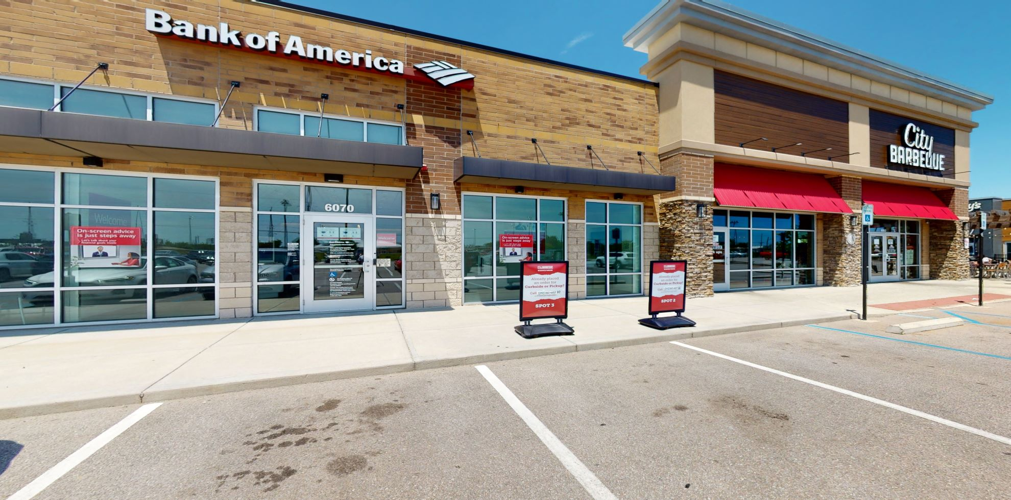 Bank of America Advanced Center with walk-up ATM   6070 Whitestown Pkwy, Whitestown, IN 46075