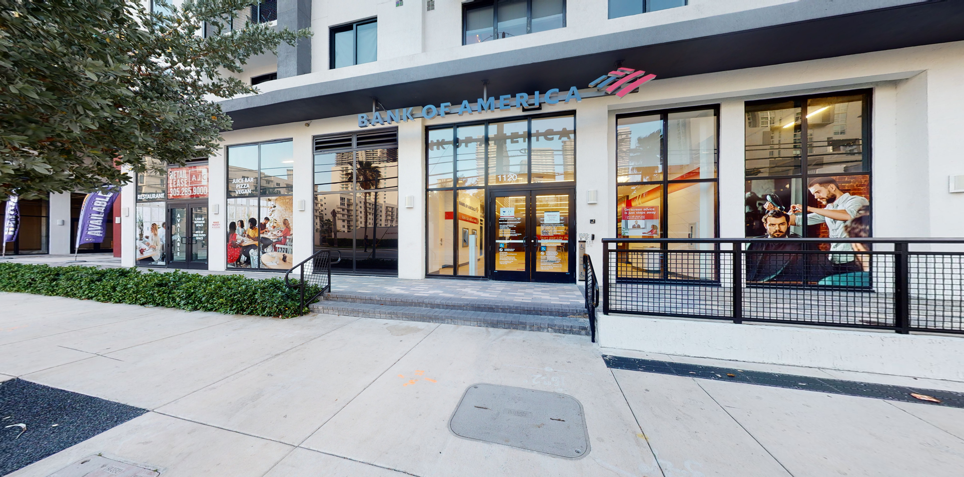 Bank of America Advanced Center with walk-up ATM | 1120 SW 2nd Ave, Miami, FL 33130