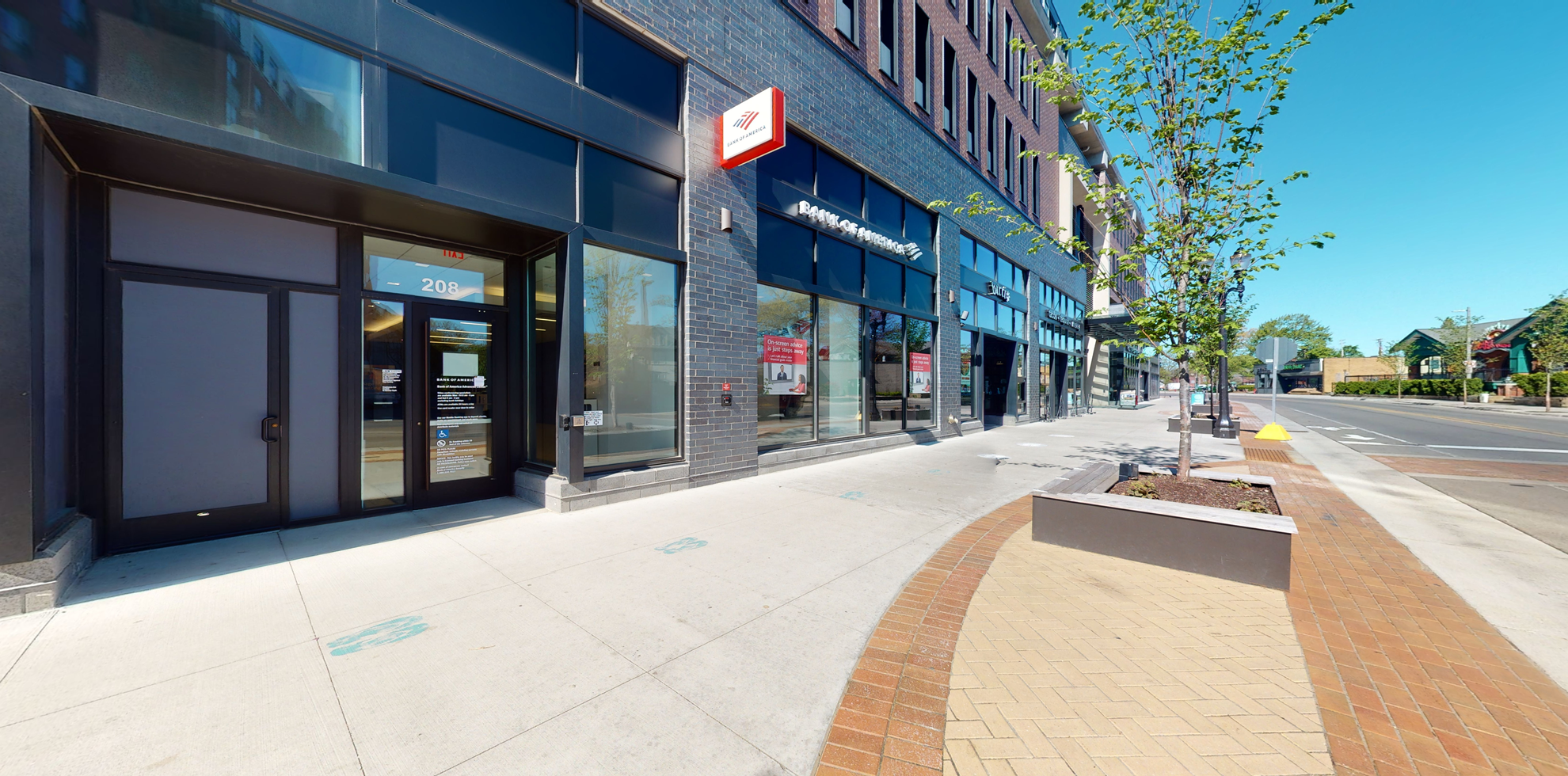 Bank of America Advanced Center with walk-up ATM   208 Albert Ave, East Lansing, MI 48823