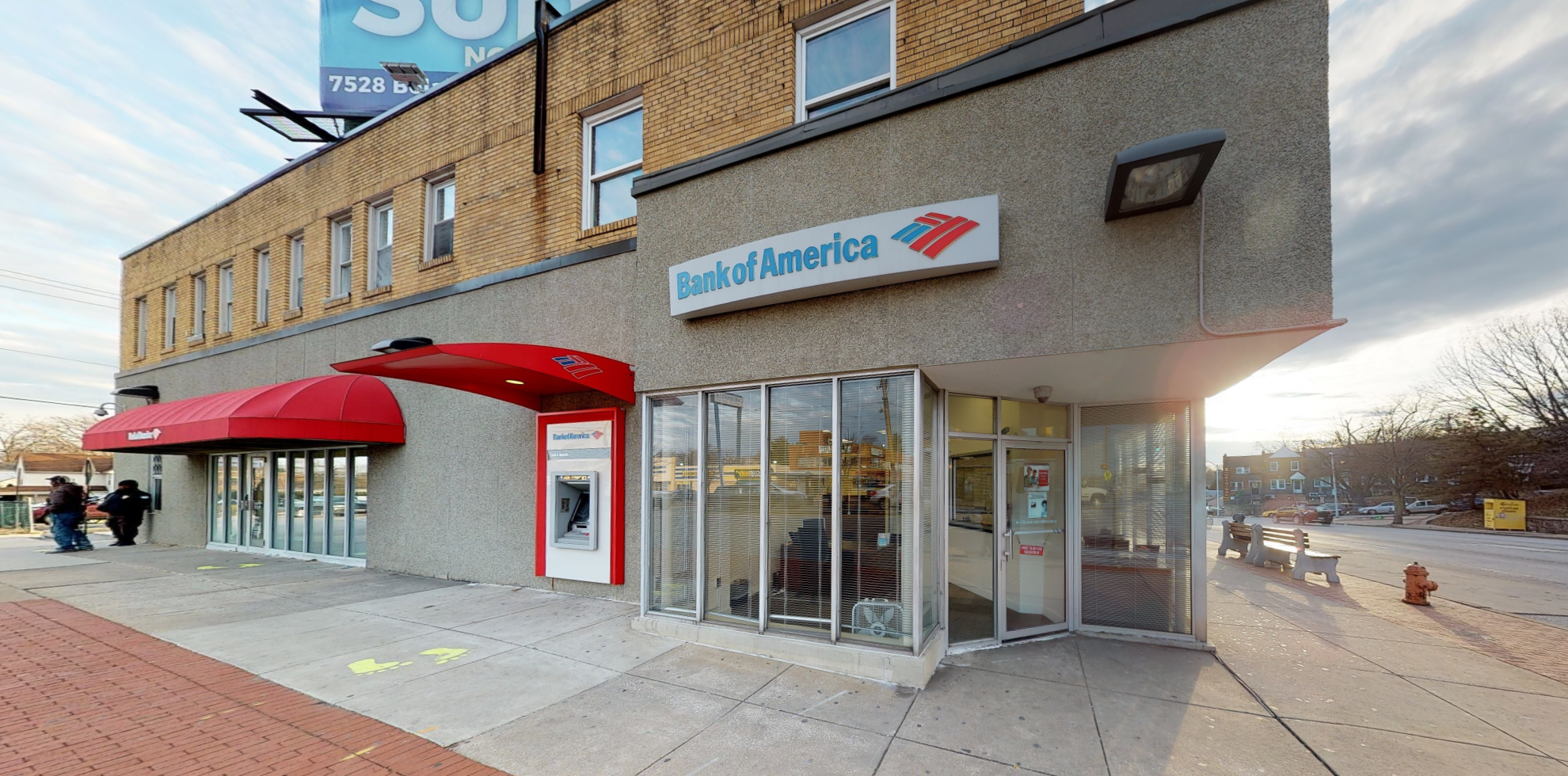 Bank of America financial center with drive-thru ATM | 5317 Belair Rd, Baltimore, MD 21206