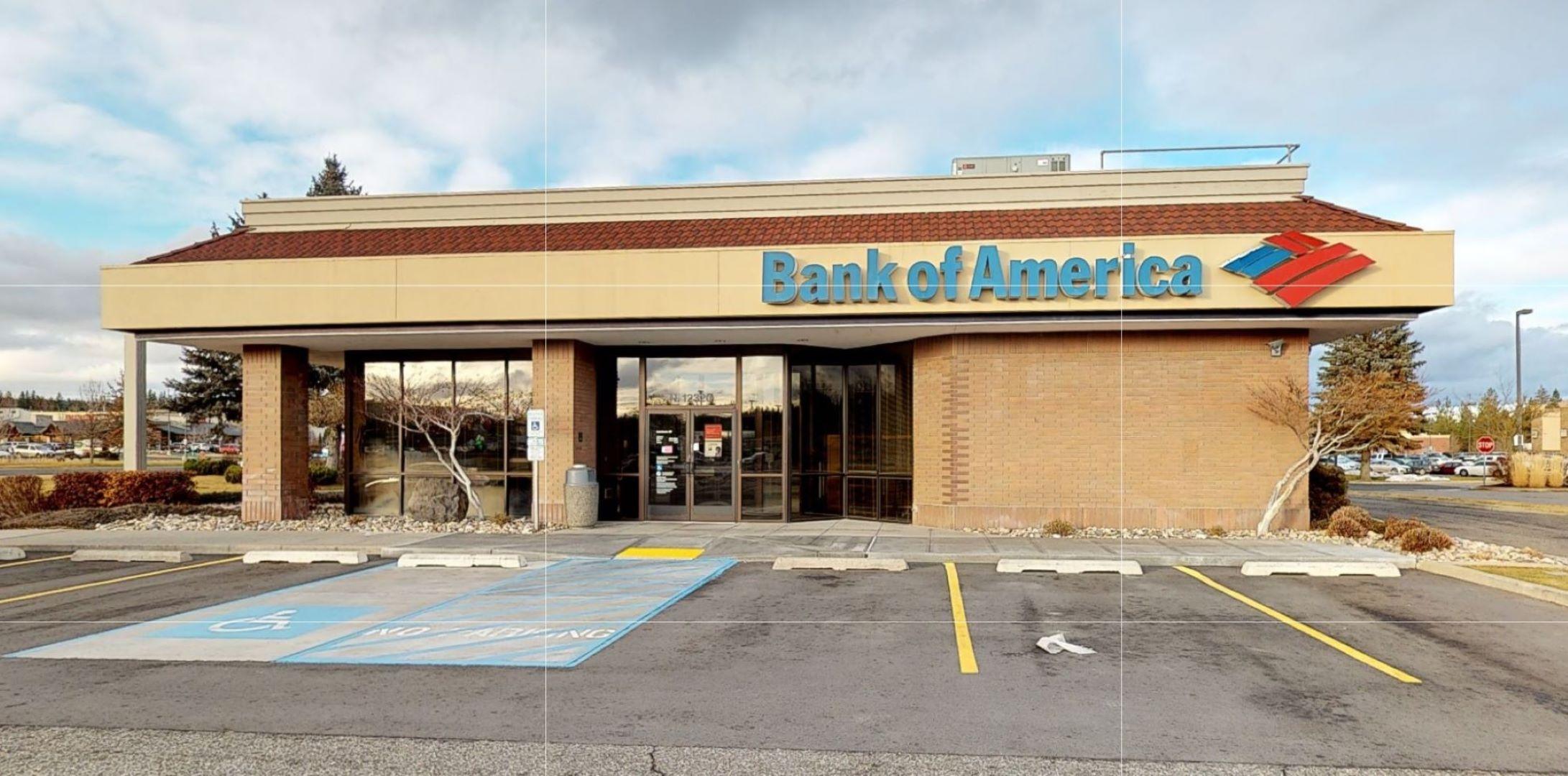 Bank of America financial center with drive-thru ATM   12320 Highway 395, Spokane, WA 99218