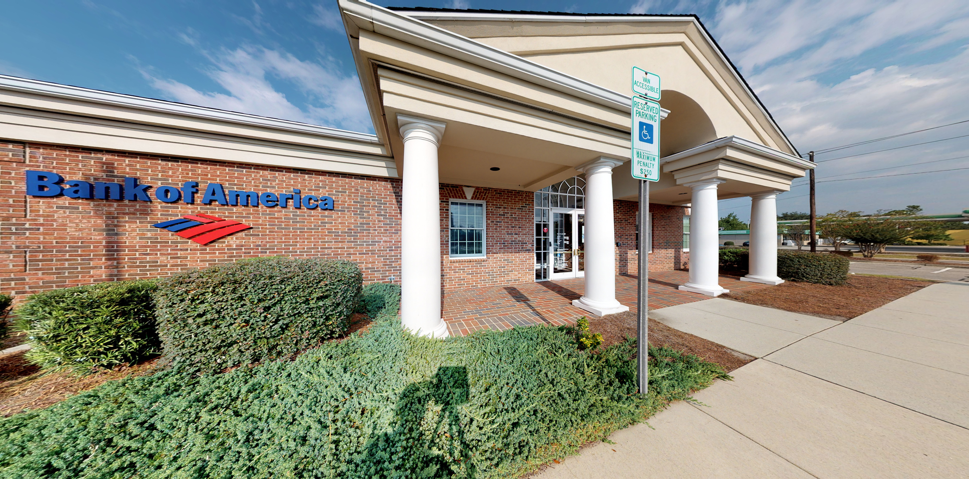 Bank of America financial center with drive-thru ATM   3500 S College Rd, Wilmington, NC 28412