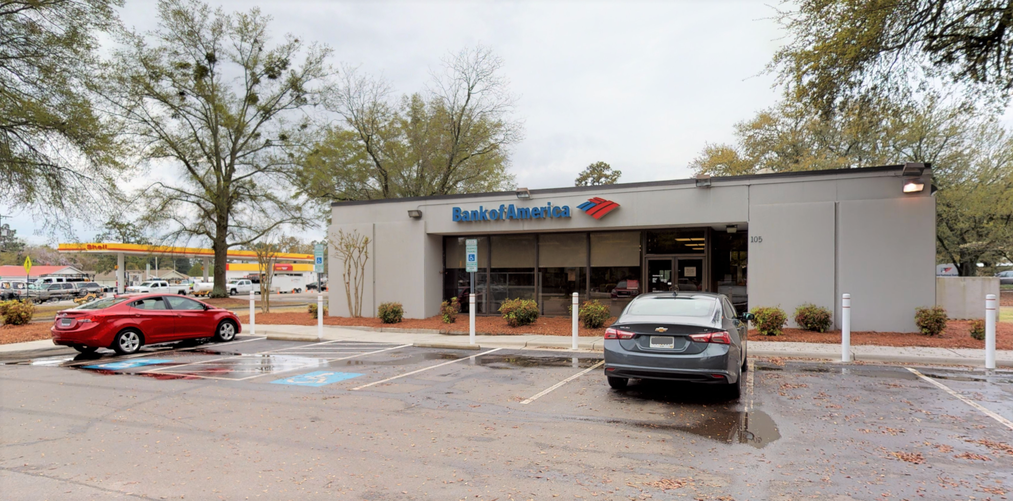 Bank of America financial center with drive-thru ATM and teller   105 W Morganton Rd, Southern Pines, NC 28387