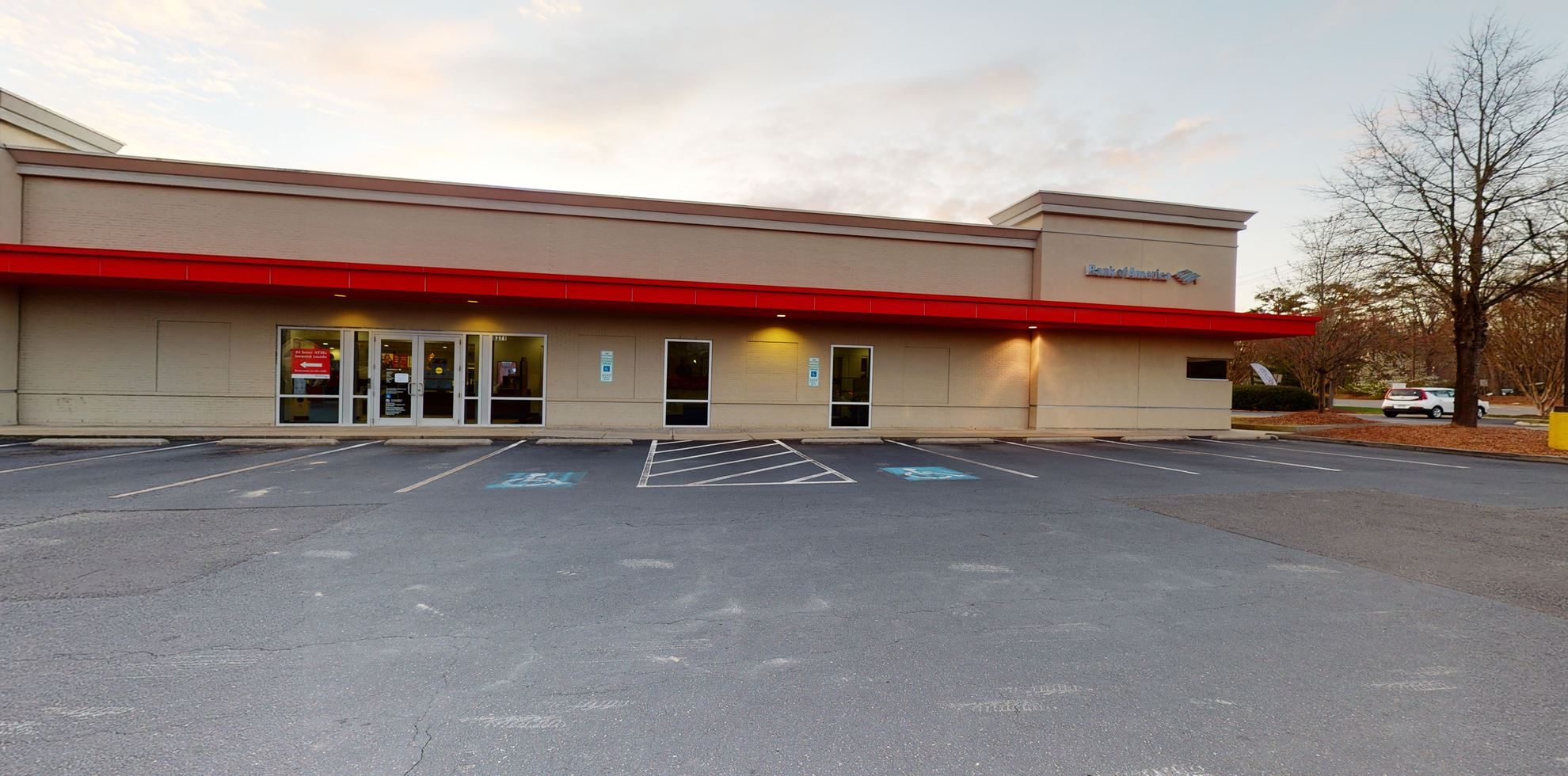 Bank of America financial center with drive-thru ATM and teller   8371 Creedmoor Rd, Raleigh, NC 27613