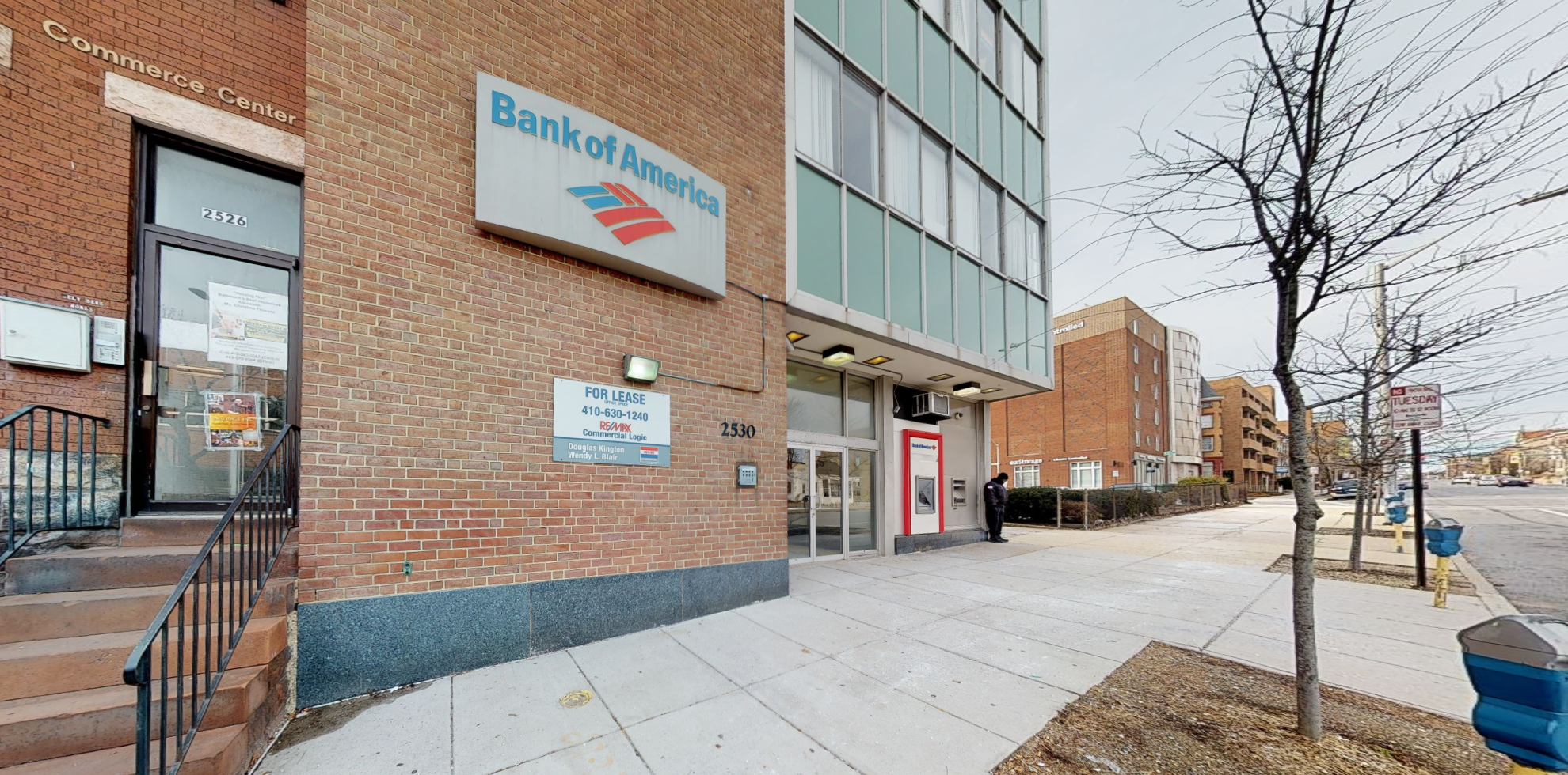 Bank of America financial center with drive-thru ATM | 2530 N Charles St, Baltimore, MD 21218