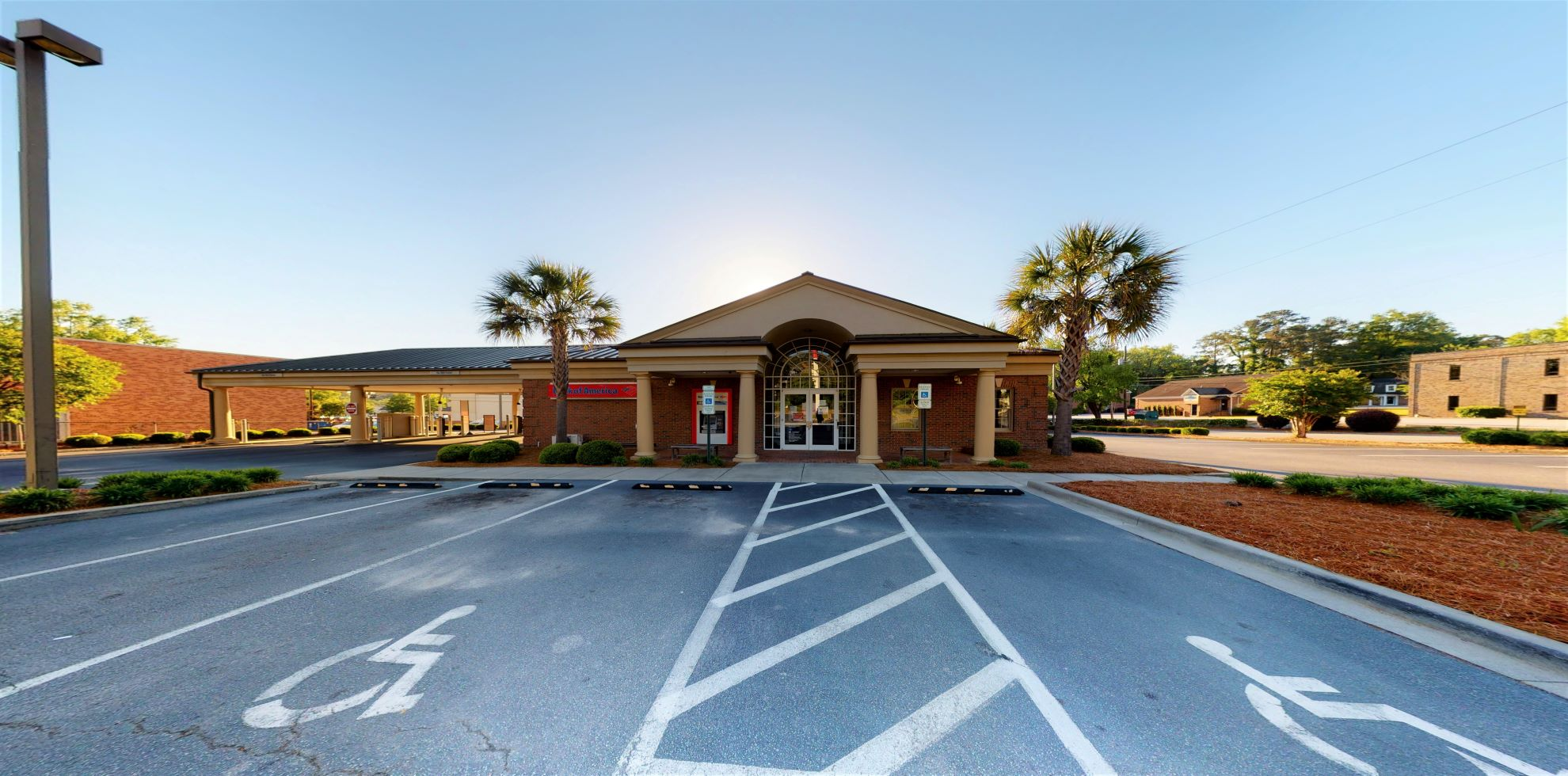 Bank of America financial center with drive-thru ATM and teller   5004 Trenholm Rd, Columbia, SC 29206