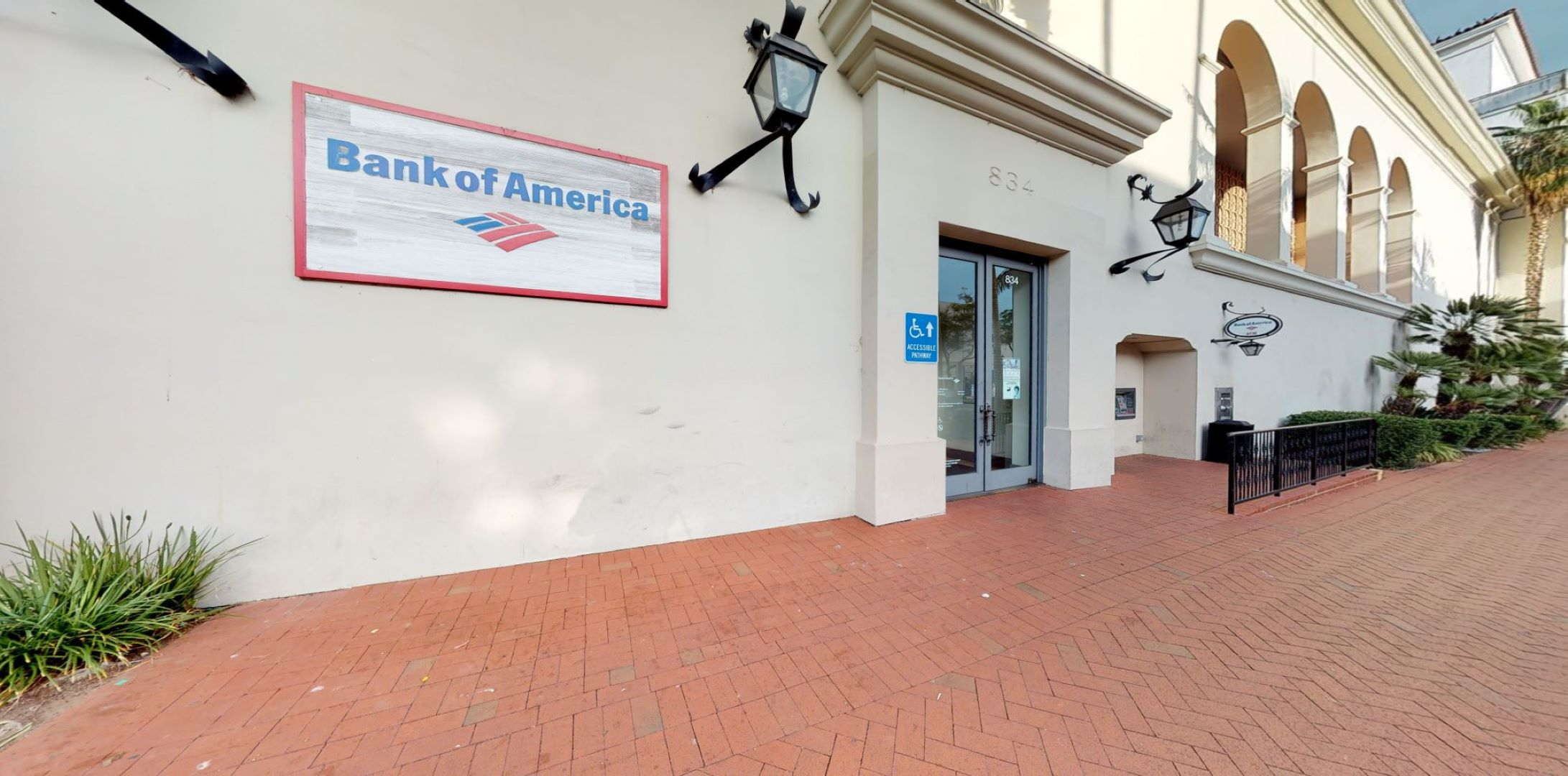 Bank of America financial center with walk-up ATM   834 State St, Santa Barbara, CA 93101