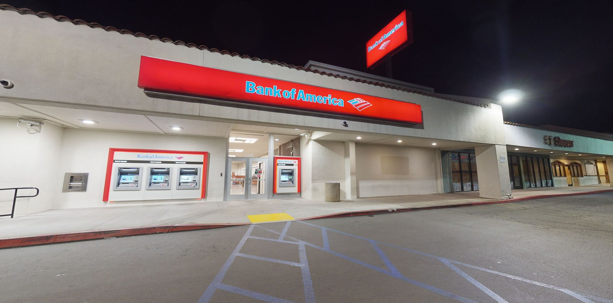 Bank of America financial center with walk-up ATM   130 W 40th St, San Bernardino, CA 92407