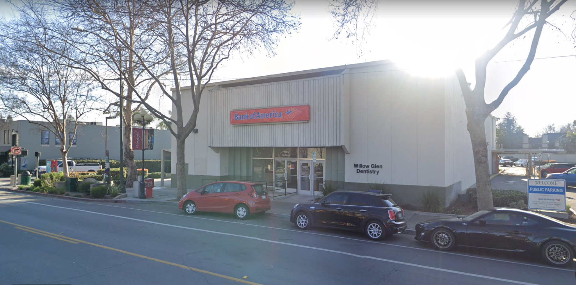 Bank of America financial center with drive-thru ATM | 1245 Lincoln Ave, San Jose, CA 95125