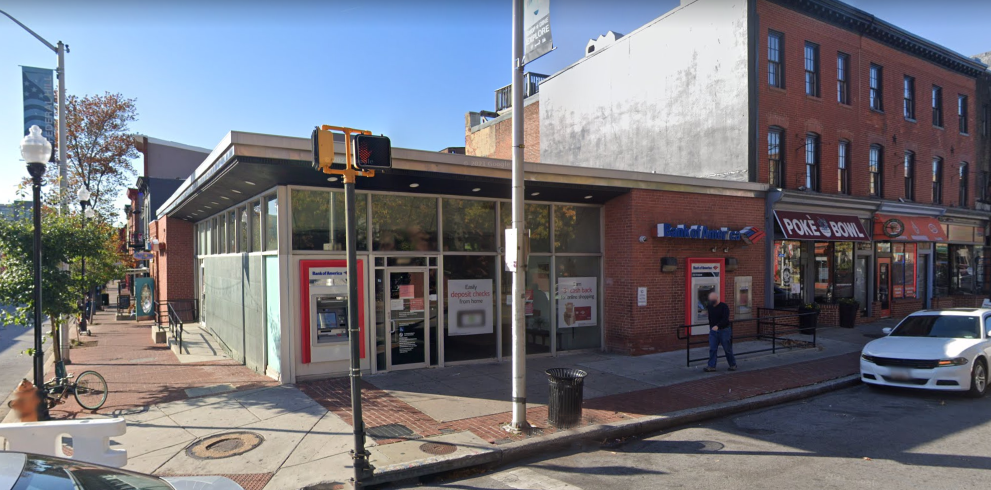 Bank of America financial center with walk-up ATM   1046 Light St, Baltimore, MD 21230
