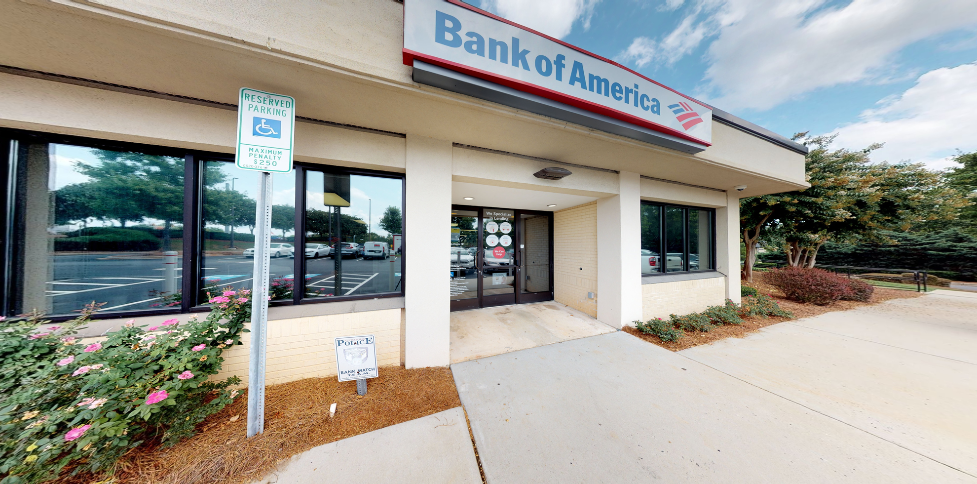 Bank of America financial center with drive-thru ATM and teller   9611 Holly Point Dr, Huntersville, NC 28078
