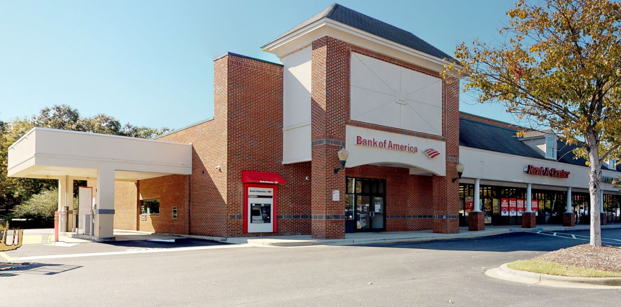 Bank of America financial center with walk-up ATM | 11601 US 70 Business Hwy W, Clayton, NC 27520