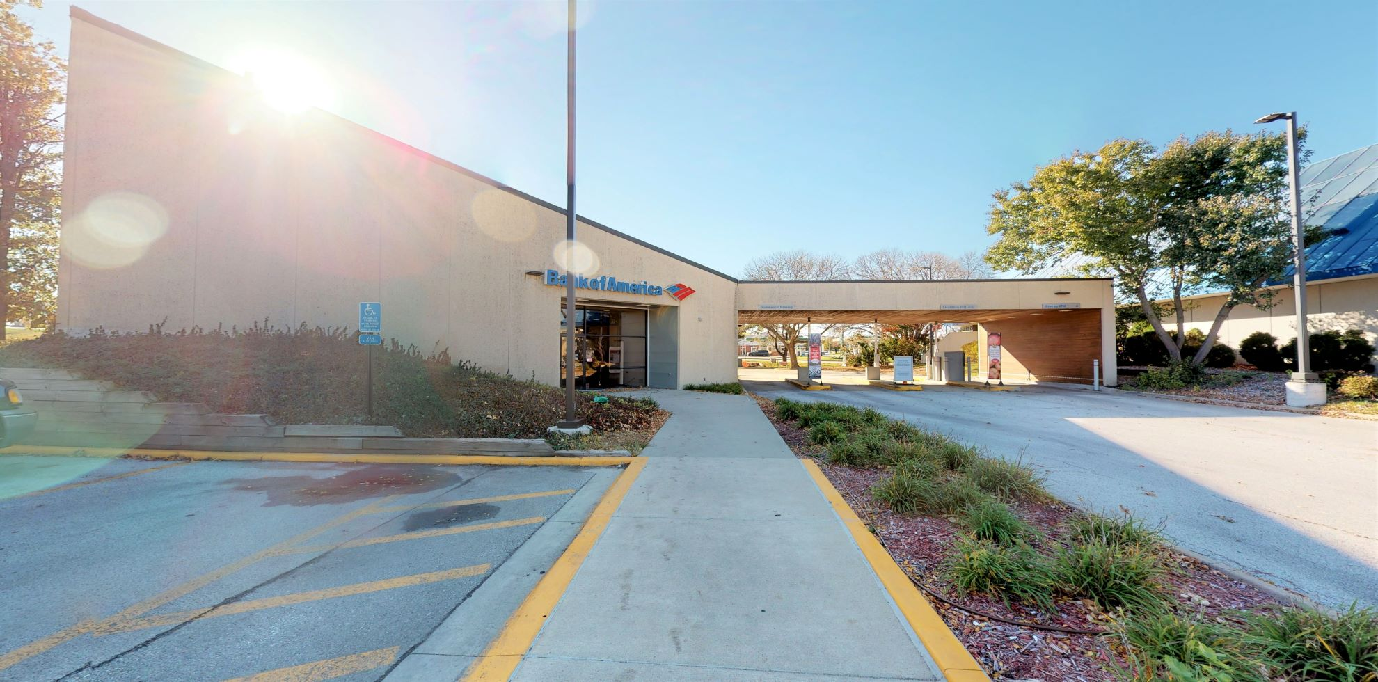 Bank of America financial center with drive-thru ATM and teller   3400 Westown Pkwy, West Des Moines, IA 50266