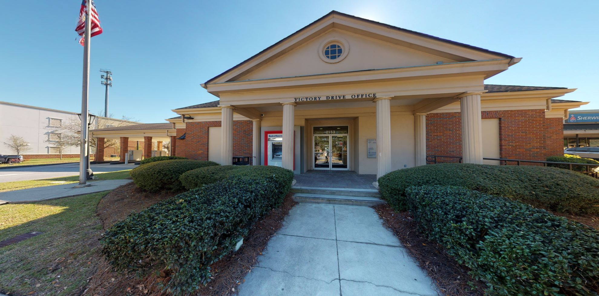 Bank of America financial center with drive-thru ATM   2153 E Victory Dr, Savannah, GA 31404