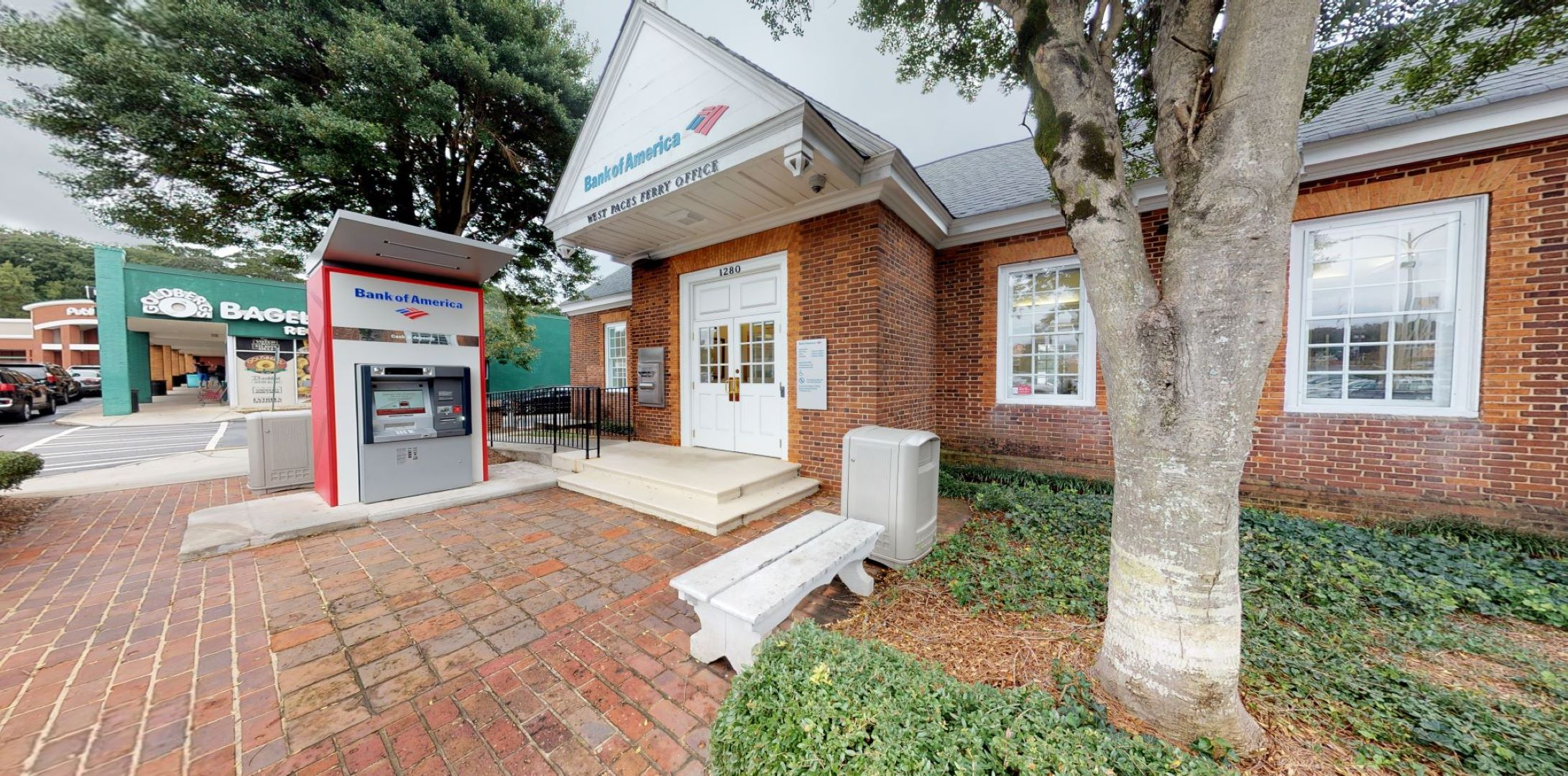 Bank of America financial center with walk-up ATM   1280 W Paces Ferry Rd NW, Atlanta, GA 30327