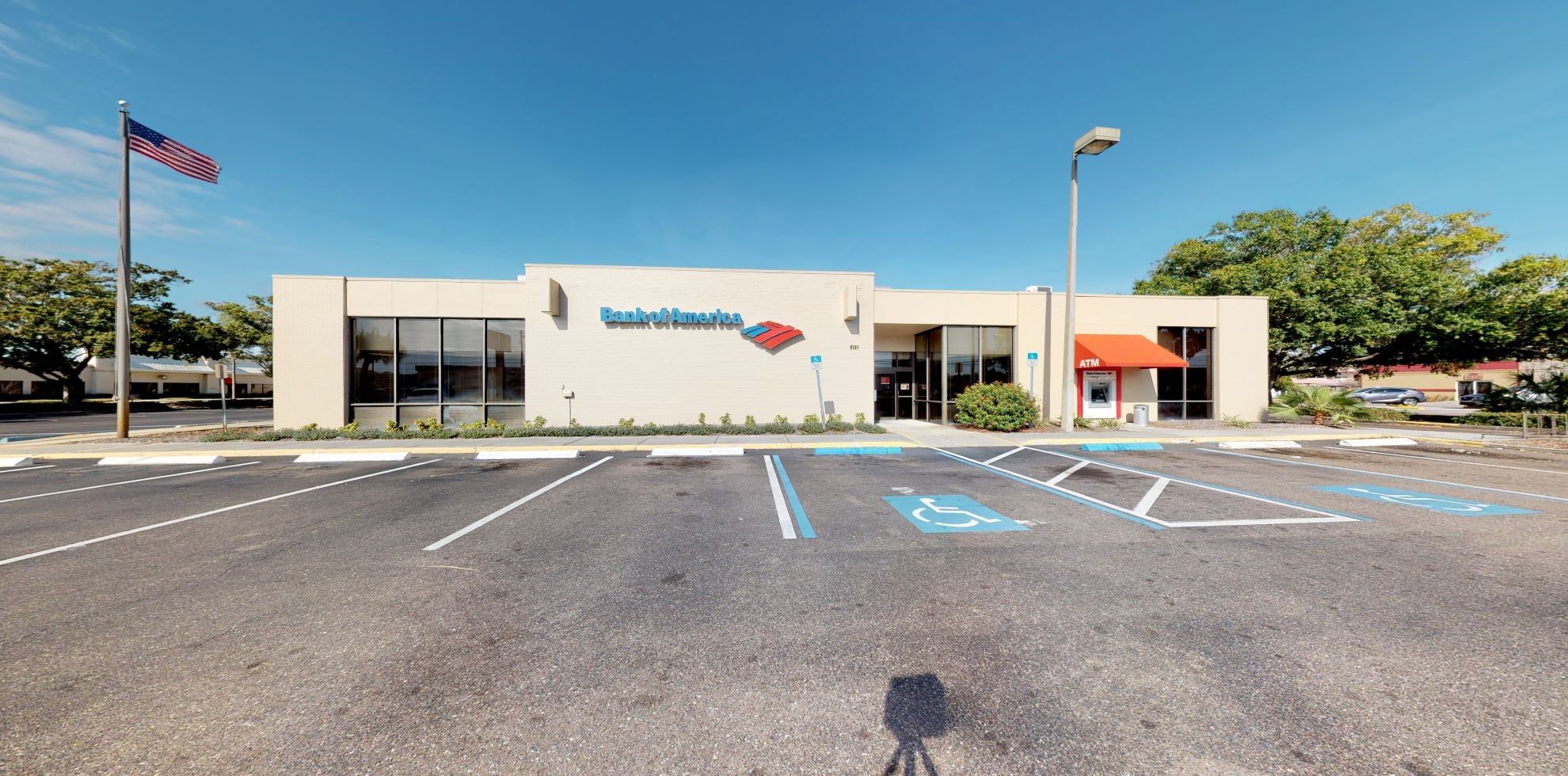 Bank of America financial center with drive-thru ATM | 8181 54th Ave N, Saint Petersburg, FL 33709