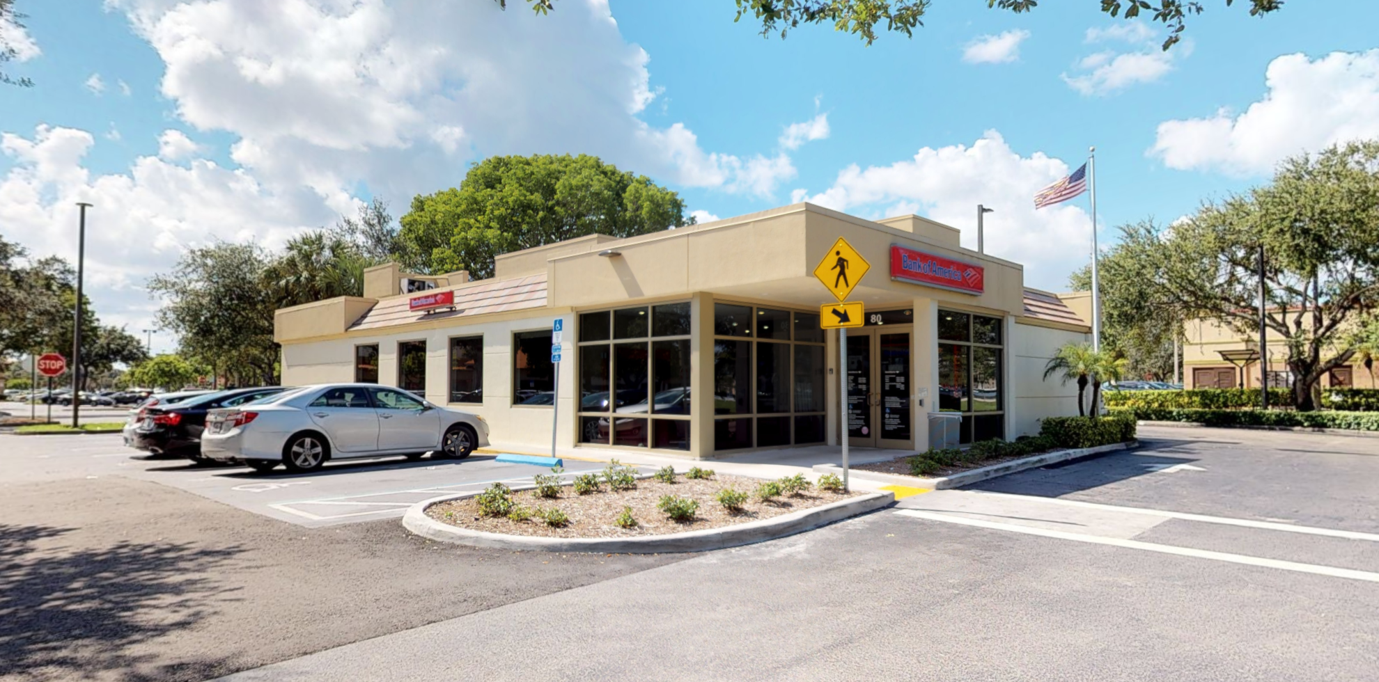 Bank of America financial center with drive-thru ATM and teller | 80 S Flamingo Rd, Pembroke Pines, FL 33027