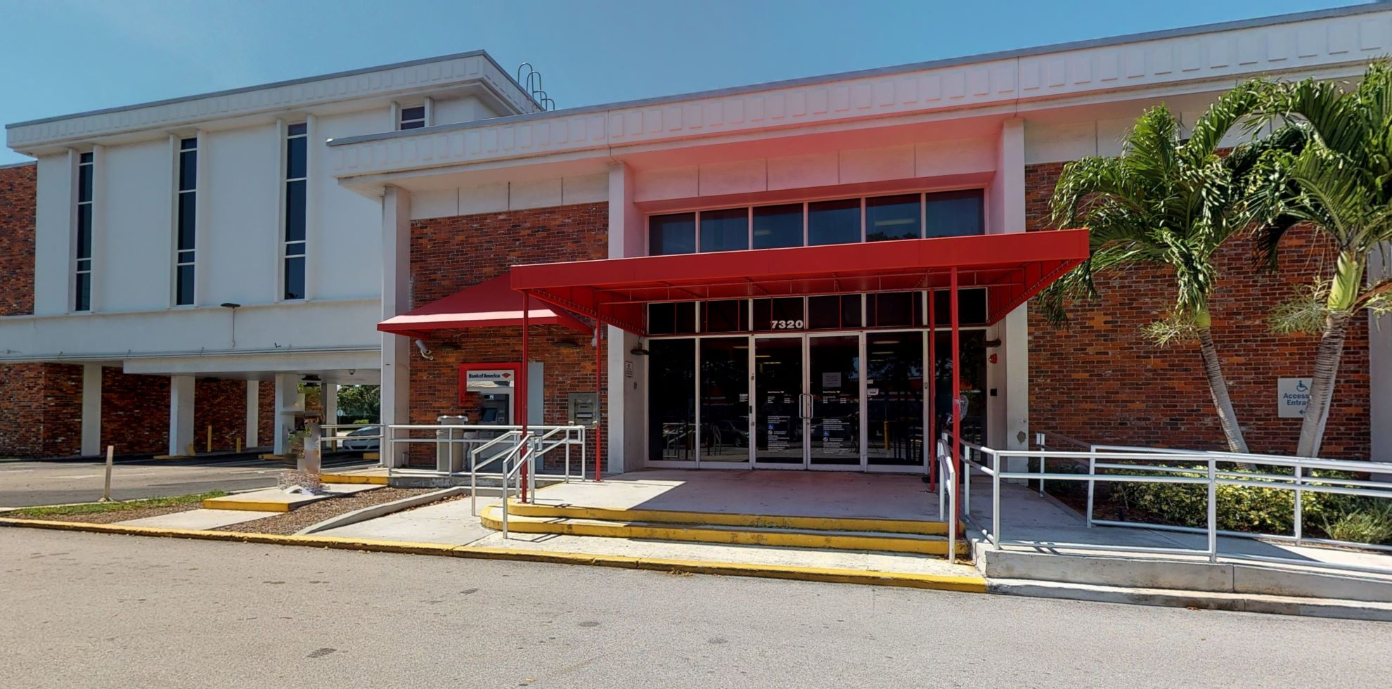 Bank of America financial center with drive-thru ATM   7320 S Dixie Hwy, West Palm Beach, FL 33405