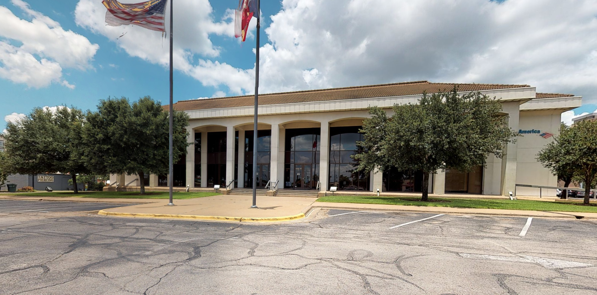Bank of America financial center with drive-thru ATM   111 University Dr E, College Station, TX 77840