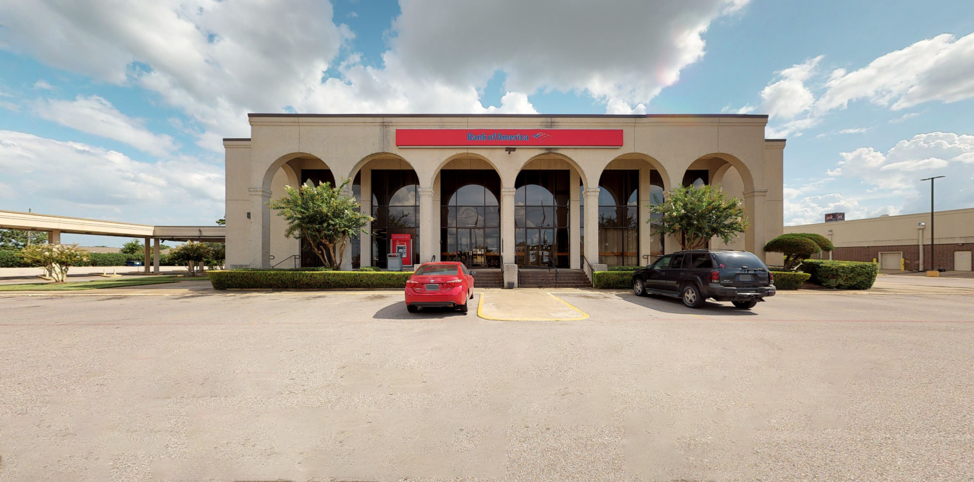 Bank of America financial center with drive-thru ATM   1431 Graham Dr, Tomball, TX 77375