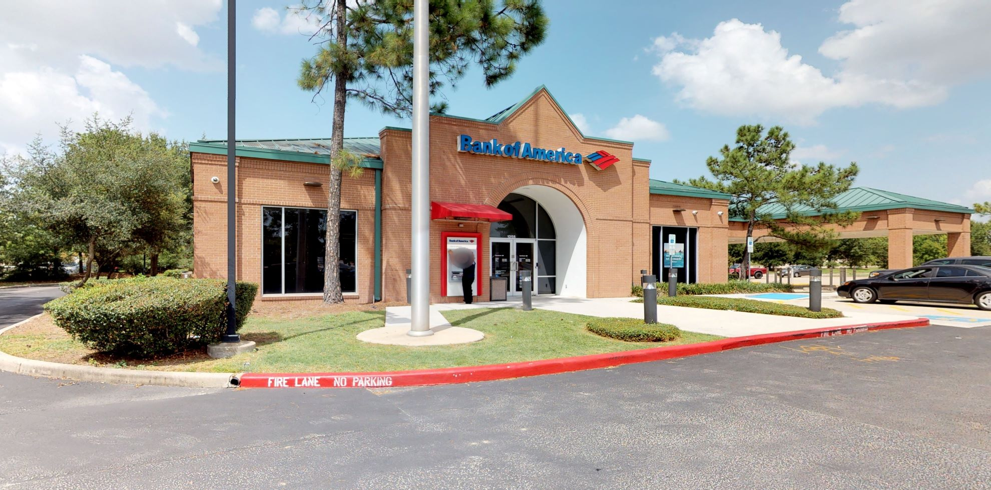 Bank of America financial center with drive-thru ATM | 1255 Lake Woodlands Dr, The Woodlands, TX 77380