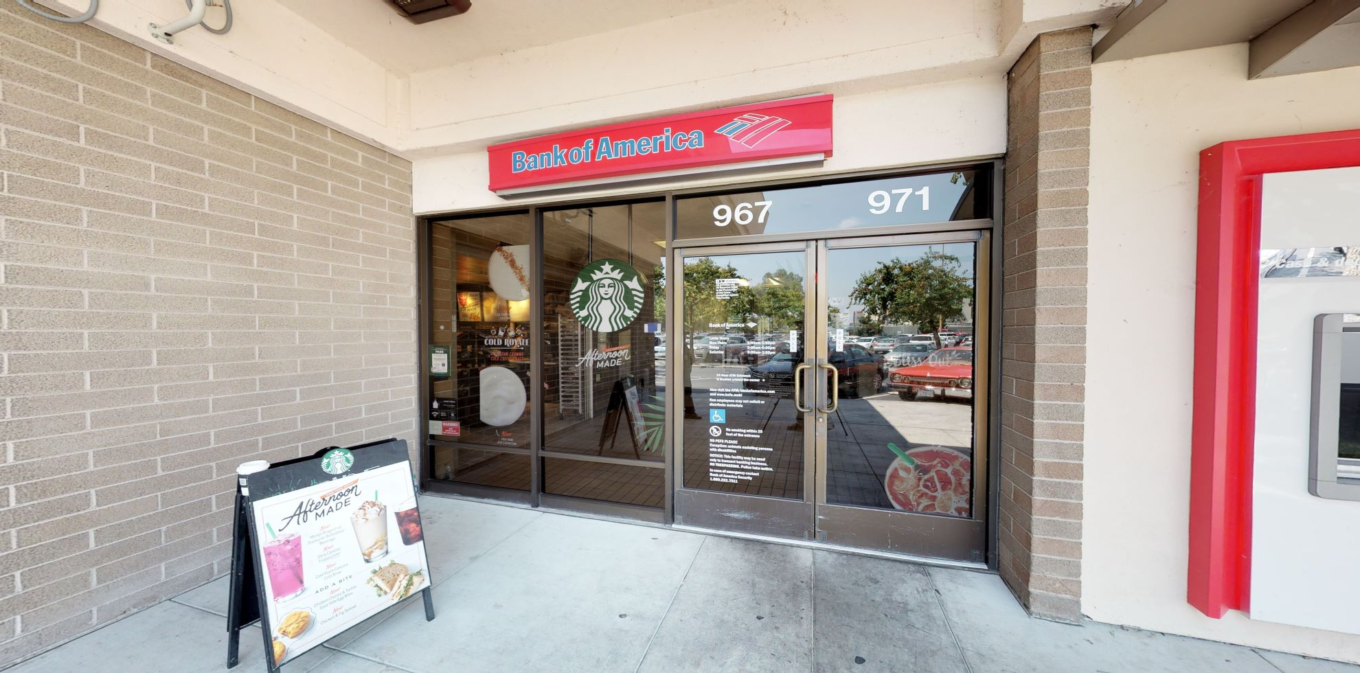 Bank of America financial center with drive-thru ATM   971 Blossom Hill Rd, San Jose, CA 95123