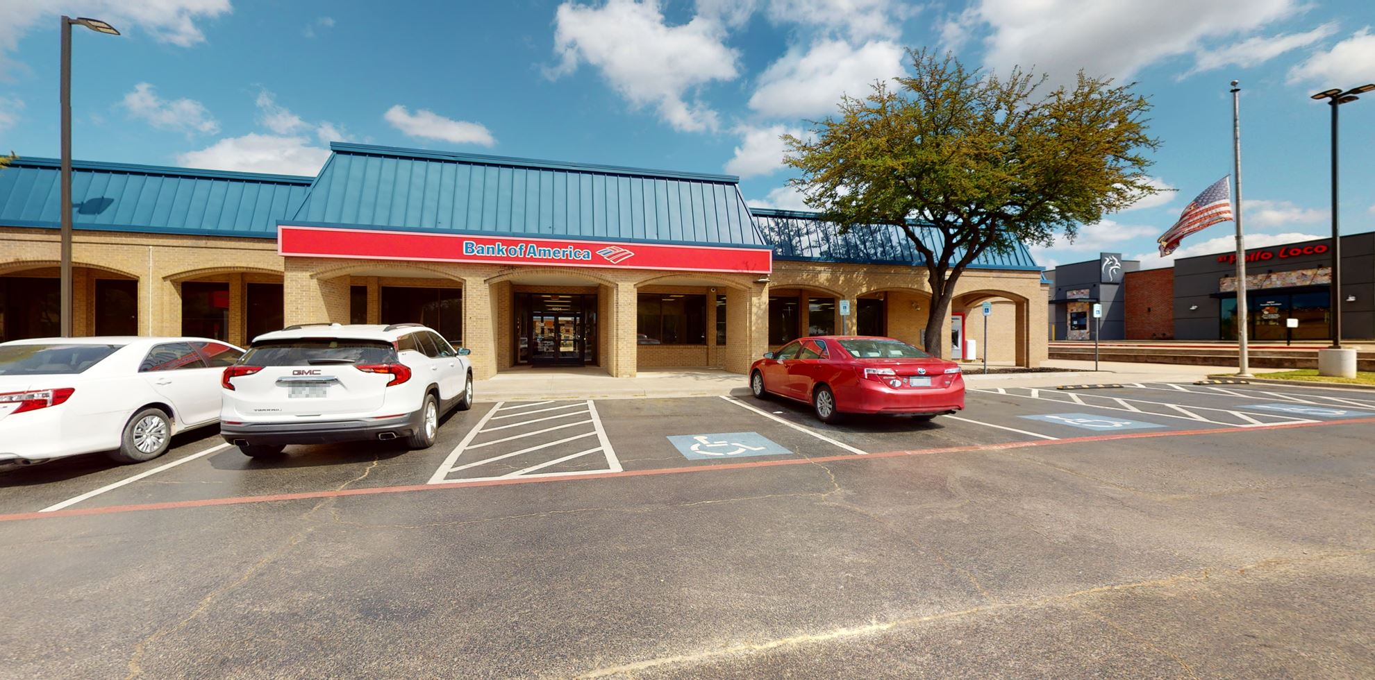 Bank of America financial center with drive-thru ATM   1904 Central Dr, Bedford, TX 76021