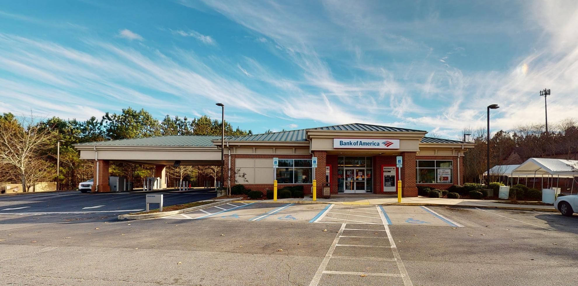Bank of America financial center with drive-thru ATM   6976 Douglas Blvd, Douglasville, GA 30135