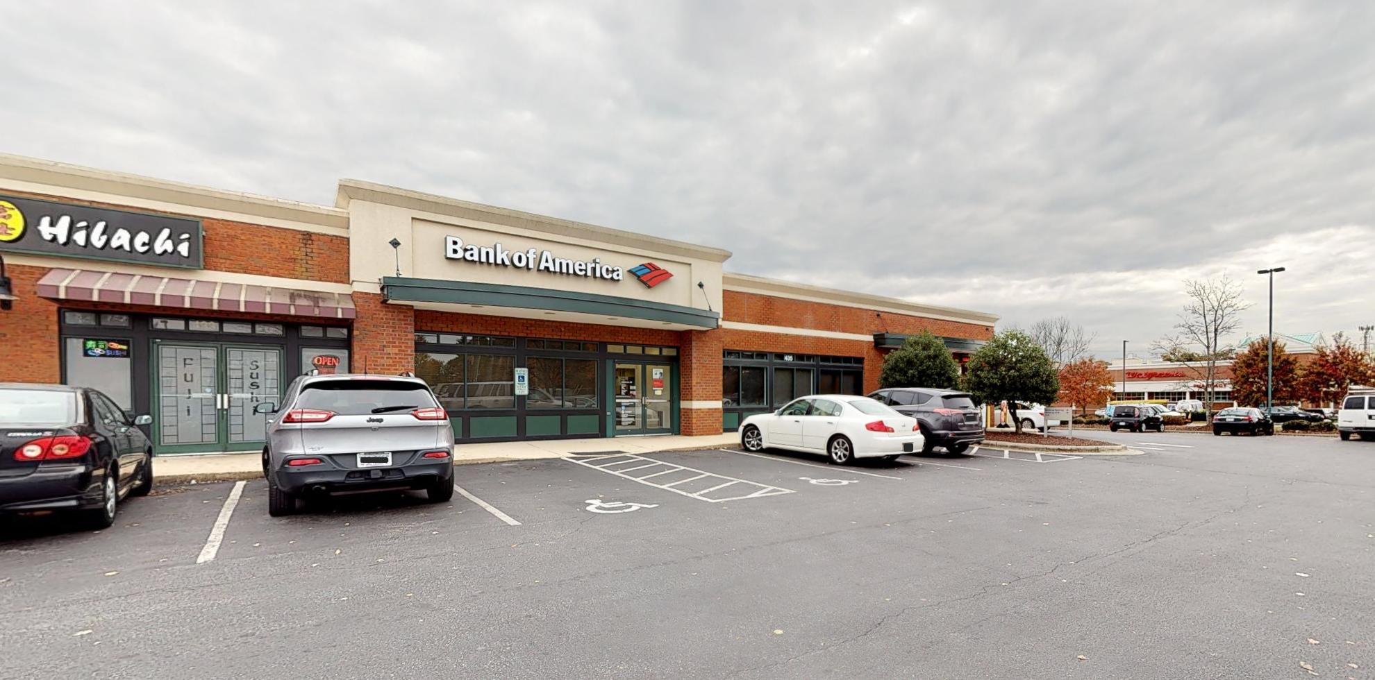 Bank of America financial center with drive-thru ATM   435 Pisgah Church Rd, Greensboro, NC 27455