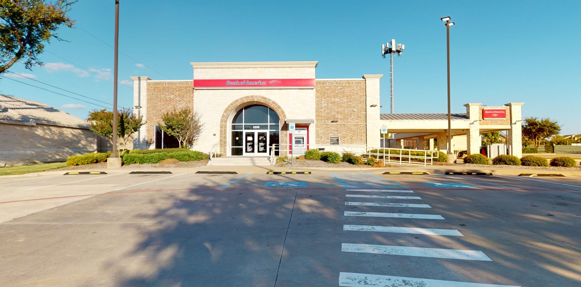 Bank of America financial center with drive-thru ATM   5295 S Cooper St, Arlington, TX 76017